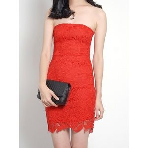 5/$30 🆕 sexy red lace bustier cocktail dress